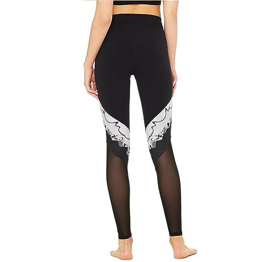 Zgsjbmh Pantalones de Yoga en Blanco y Negro Estampado ...