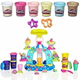 play doh plus ice cream cone - Play-Doh Sweet Shoppe Swirl & Scoop Ice Cream Play Set + Play-Doh Confetti Compound Bundle