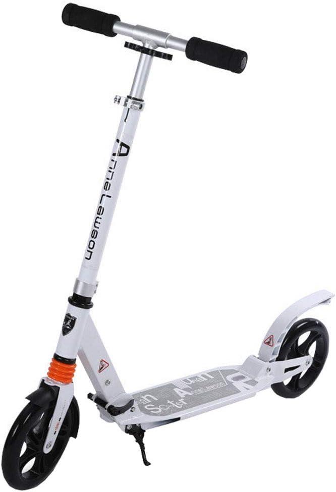 キックボード キックスクーター 折りたたみ式ティーンキックスクーター、大人のキックスクーター3レベル調節可能な高さ、通勤スクーター、8歳以上のお子様向けのシティスクーターの誕生日プレゼント、サポート100kg(220ポンド)  黒