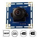 ELP 180 Degree Fisheye Lens 2 Megapixel 1080P Wide Angle Pc Web Camera USB for Andriod/Linux/Windows