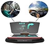 BZseed Head Up Display, Car HUD Phone GPS Navigation Image Reflector, Cell phone Holder Mount, Universal Smart Mobile Cell phone Holder Mount - Black (Wireless Phone Accessory)