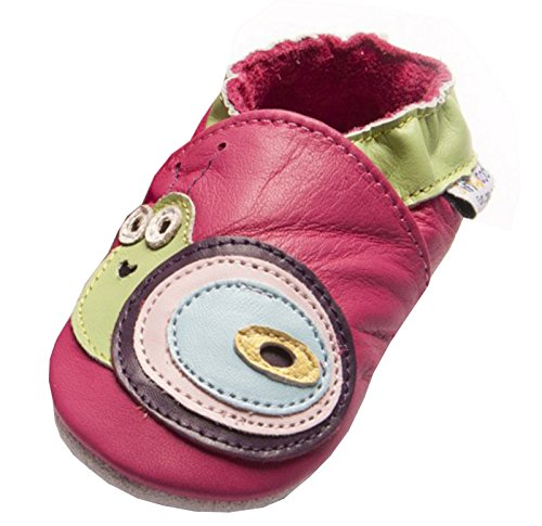 Jinwood designed by amsomo 12 Verschiedene Modelle - Mädchen - Hausschuhe - Lederpuschen - Krabbelschuhe - Soft Sole/Mini Shoes DIV. Groeßen 17/19-35/36 snail fuchsia mini shoes
