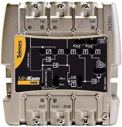 Televes - Amplificador minikom matv+fi 4e/1s easyf