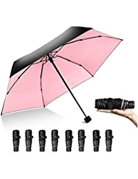 Mini Travel Umbrella, Windproof Compact Lightweight Portable Sun & Rain Umbrella with UV Protection for Women Men , Gifts