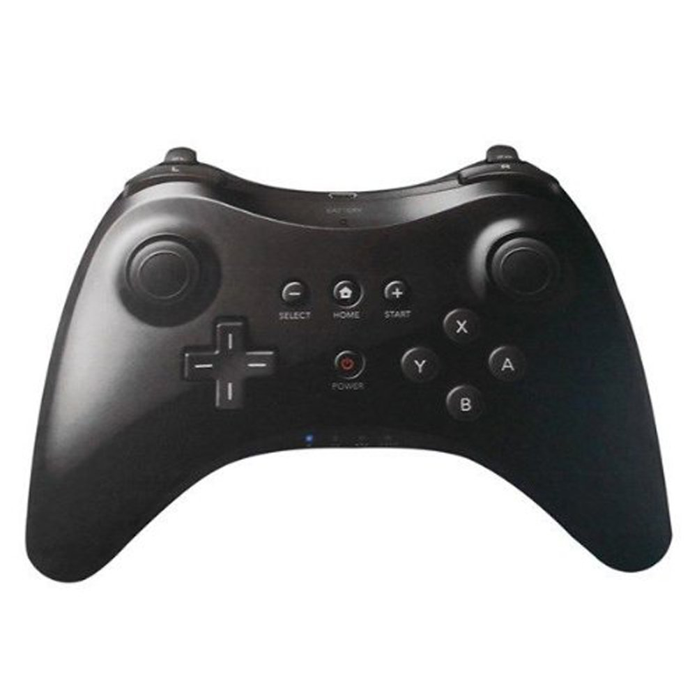 XFUNY(TM) New Wireless Game Classic Pro Controller Remote Pro Commander for Nintendo Wii U-Black by XFUNY (Image #1)