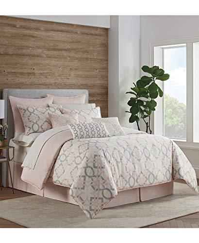 Eva Longoria Black Label Ocos Collection Reversible Pink/Grey King Comforter Set