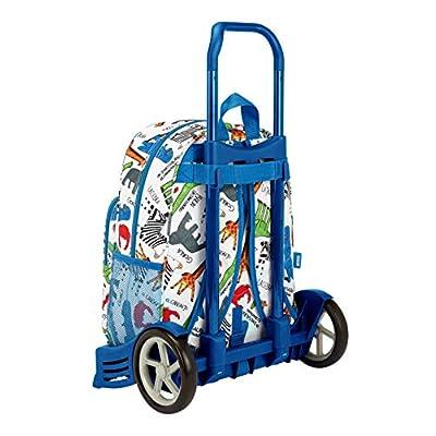 Algo de Jaime Safta Evolution - Mochila Con Carro, Multicolor, 42 x 33 x 14 cm: Oficina y papelería