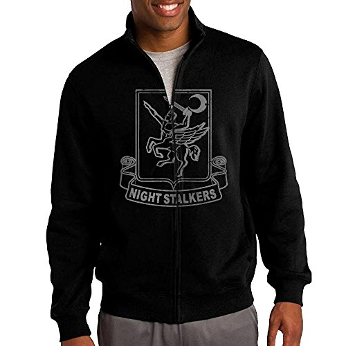 GD-Charakter Men's Cotton Full Zip Solid Jackets - US Army Retro 160th Special Operations Aviation - Special 160th Aviation Regiment Operations
