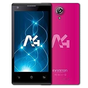 "Infiniton A4 - Smartphone de 4.5"" (WiFi, Bluetooth, Quad-Core 1.3 GHz, 8 GB, Android) color rosa"