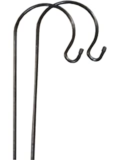 2 X Gardman Shepherdu0027s Crook Hook Stand For Bird Feeders U0026 Candle Lanterns  1m