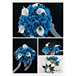 17pc-Wedding-Bouquets-Flower-Package-Turquoise-White-Real-Touch-Calla-Lily-Rose-Bouquet-Boutonniere-Corsages