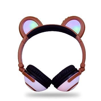 YAN Auriculares Bluetooth Diadema Brillante Auriculares de Música Plegable Auriculares de Dibujos Animados (Style : 3): Amazon.es: Jardín