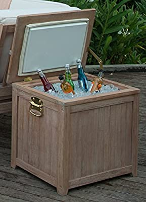 Cambridge-Casual 370233 Willow Wooden Ice Chest Cooler, Weathered