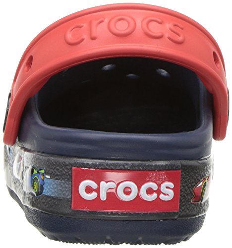 crocs Unisex-Kinder Crocband Fun Lab Graphic Lights Clog Kids Blau (Navy)