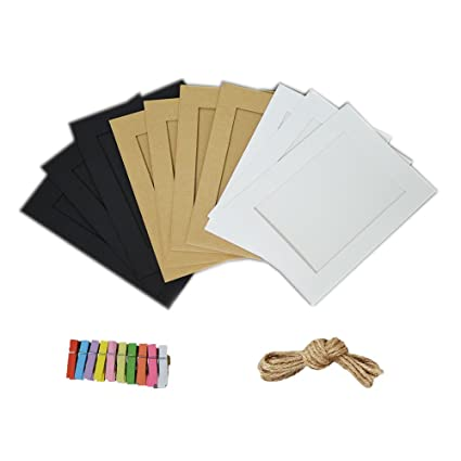Amazon.com - Jahosin 5x7in Paper Picture Frames, DIY Photo Frames ...