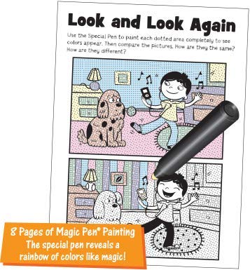 Highlights Magic Pen Painting Activity Books Includes 4 Books: Highlights Hidden Pictures Lets Hunt for Letters Fun Puzzle Count and Color Invisible Ink Magic Pen Painting Books Let/'s Hunt for Letters Lee Publications