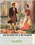 Super Artwork in Full-Color 1937 Glidden Paint Company Advertisement Original Paper Ephemera Authentic Vintage Print Magazine Ad/Article