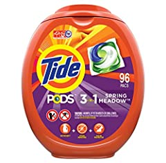 The new and improved Tide PODS laundry detergent pacs are super concentrated with 90 percent cleaning ingredients to rejuvenate even dingy clothes for brighter brights and whiter whites, wash after wash. Each Tide PODS is a 3-in-1 breakthroug...