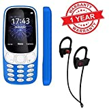 MacBerry A3310 Dual Sim SmalL Size Mobile Phone With Wireless Sports Bluetooth Headset For Samsung Nokia Lava Lenovo Redmi iphone Oppo Vivo Oneplus smart Phones