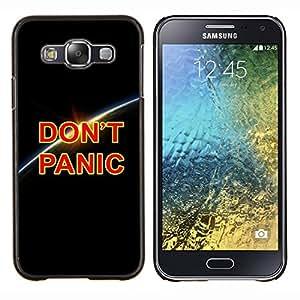 YiPhone /// Prima de resorte delgada de la cubierta del caso de Shell Armor - Dont Panic Tierra Planet Cosmos Universo - Samsung Galaxy E5 E500