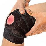NeoProMedical Knee Support - Neoprene Breathable Knee Brace – Medium to Large Adjustable Size, Black Color
