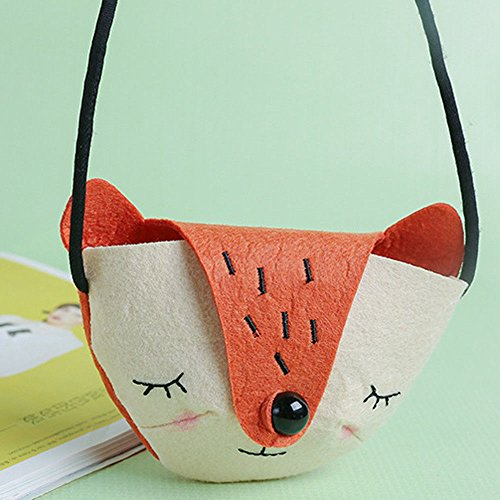XENO-Baby Girls Kids Fox Cute Storage Bag Crossbody Shoulder Bag Snack bag (Baby Shower Mad Libs)
