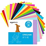 AmazonBasics Origami Paper, Assorted Colors, 200