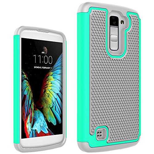 Cell Phones Cases LG K10 Case, LG Premier Case, KAIDON [Ball Point] PC  Frame TPU Plastic Cover and Soft Silicone Inner 2 in 1 Case for LG K10 / LG