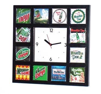 History of Mt. Dew Soda wall or desk clock