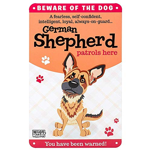 (Wags and Whiskers German Shepherd Sign, Large, Multicolor)