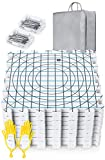 Extra Thick Blocking Mats for Wet and Steam Blocking with Grids and 36 inches Radial Circles - Includes 100 t pins Storage Bag and Gloves Blocker: more info