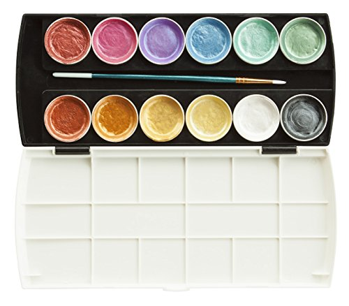 (Jack Richeson Set of 12 Semi Moist Collegiate Metallic Watercolor)