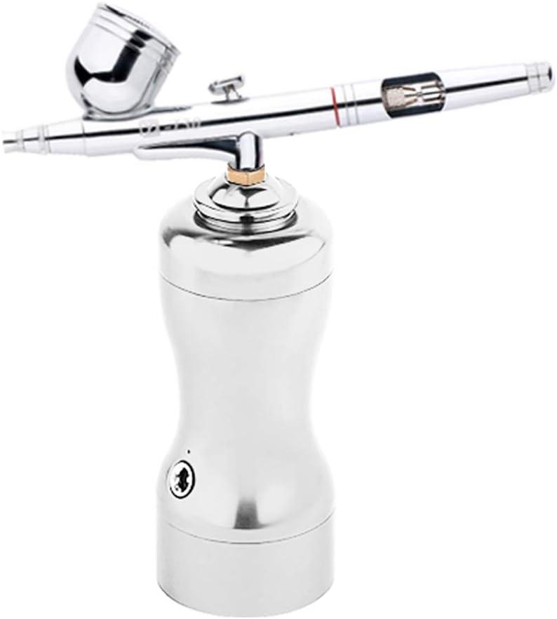JL Mini Pistola De PulverizacióN Facial De Mano Pulverizador De OxíGeno De Agua Para Hidratar La Piel Limpiar Poros Carga USB - plata