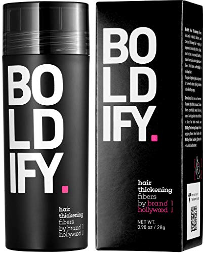 Best BOLDIFY Hair Fibers for Thinning Hair (DARK BROWN) 100% Undetectable Natural Fibers - Giant 28g Bottle - Completely Conceals Hair Loss in 15 Seconds - For Women  Men