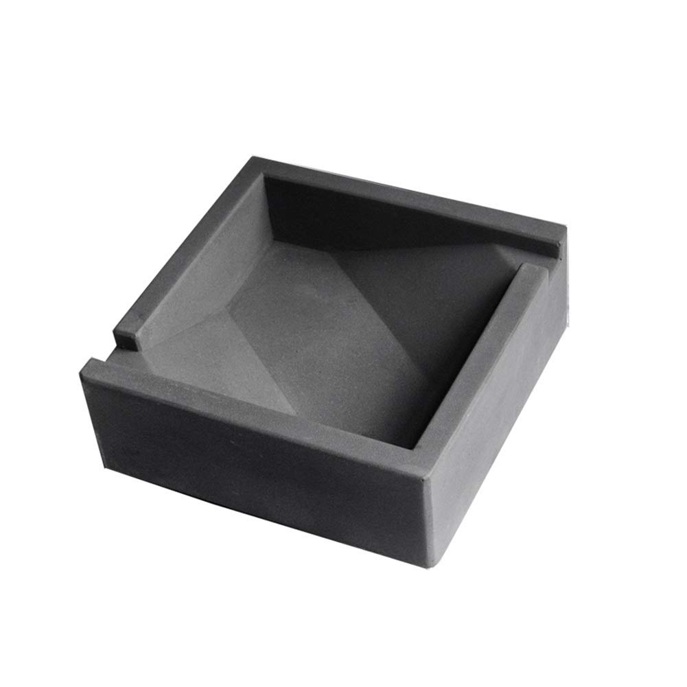 Large Square Ashtray Cement Simple Industrial Wind Tabletop Ash Tray Ash Holder for Smokers Ashtrays Decorated Hotel Living Room Patio (Size : Large)