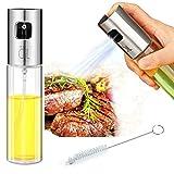 Oil Sprayer for Cooking, Sprayer Glass Bottle Vinegar Bottle Oil Dispenser with Brush Stainless Steel for BBQ/Cooking/Frying/Salad/Baking