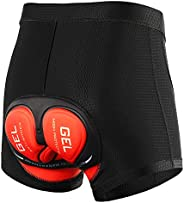 Lixada Men's Bicycle Cycling Underwear Shorts 3D Gel Padded,Quick Dry, MTB Biking Liner Exercise Shorts fo