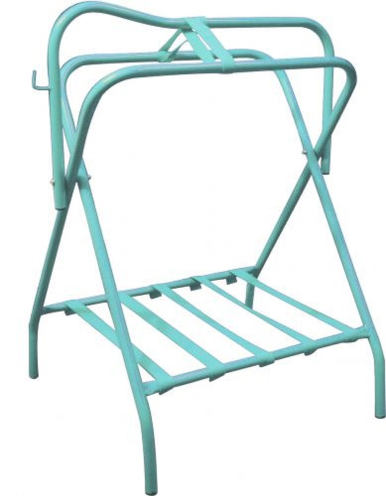 Showman Western Or English Teal Turquoise Folding Saddle Rack
