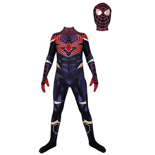 BLOIBFS Disfraz Spiderman,Halloween Superhéroe Adultos Traje ...