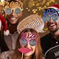 Sanmubo Masquerade Frames Glasses 2020 New Year Eve Festival Glasses Decoration Festival Accessories Set Girl Headband Glasses for Party