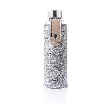 MyEqua Mismatch Botella de Cristal 550 ml con funda de fieltro: Amazon.es: Deportes y aire libre