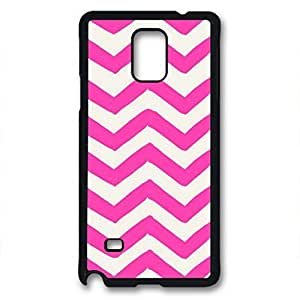 Samsung Galaxy Note 3 N9000 Case, iCustomonline Pink And White Chevron Pattern Designs Case for Samsung Galaxy Note 3 N9000 Black