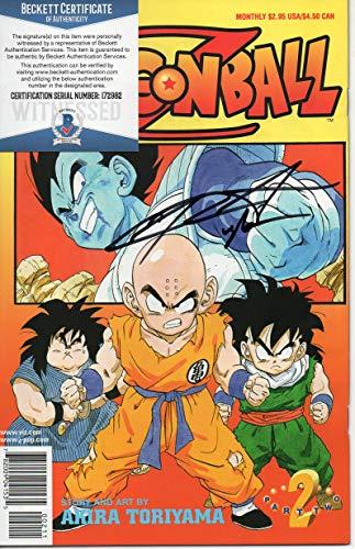 (Chris Sabat autographed Vic Comic Book Part 2 Dragon Ball Z Super Vegeta Piccolo Beckett)