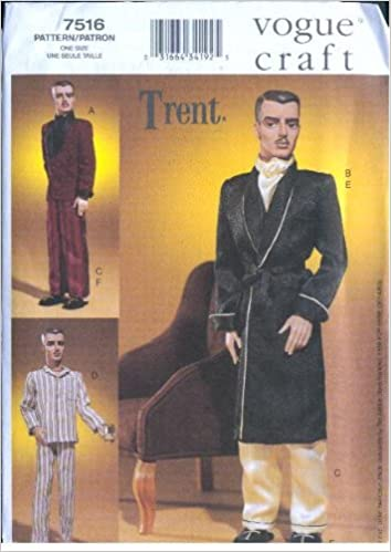 Vogue 7516 - TRENT - 17-Inch Doll Clothes Patterns - Circa