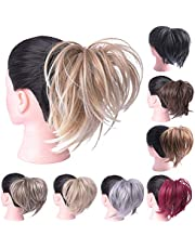 Oubeca Tousled Synthetic Hairpiece Scrunchies Straight Elastic Updo Scrunchy Bun For Women