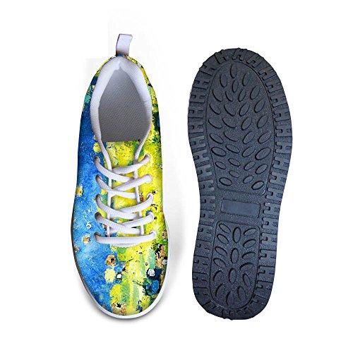 HUGS IDEA Fashion Colorful Mesh Platform Fitness Sneakers for Women Graffiti 6 kOQCpUxk3y