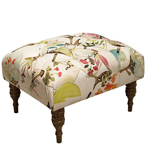 [Skyline Furniture Mia Multi Tufted Ottoman] (Skyline Furniture Leather Tufted Bed)