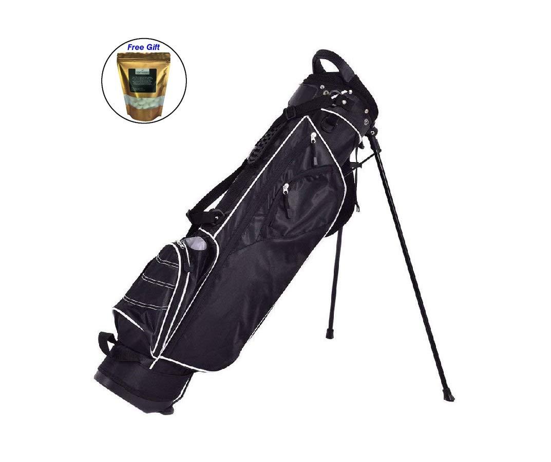eight24hoursゴルフスタンドカートバッグ4 Way Divider Carryオーガナイザーポケット – ブラック   B07D8T2P3V