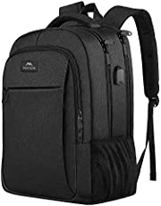 Laptop Backpack, Business Travel Backpack with USB Charging Port for Women & Men, Water Resistant College School Bookbag Anti Theft Computer Backpack Daypack Fits 15.6 Inch Laptop and Notebook