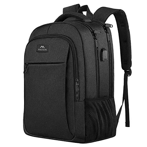 Business Travel Backpack, Matein Laptop Backpack with Usb Charging Port for Men Womens Boys Girls, Anti Theft Water…